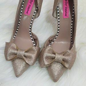 Betsey Johnson sparkle heel shoes size 8 [4]